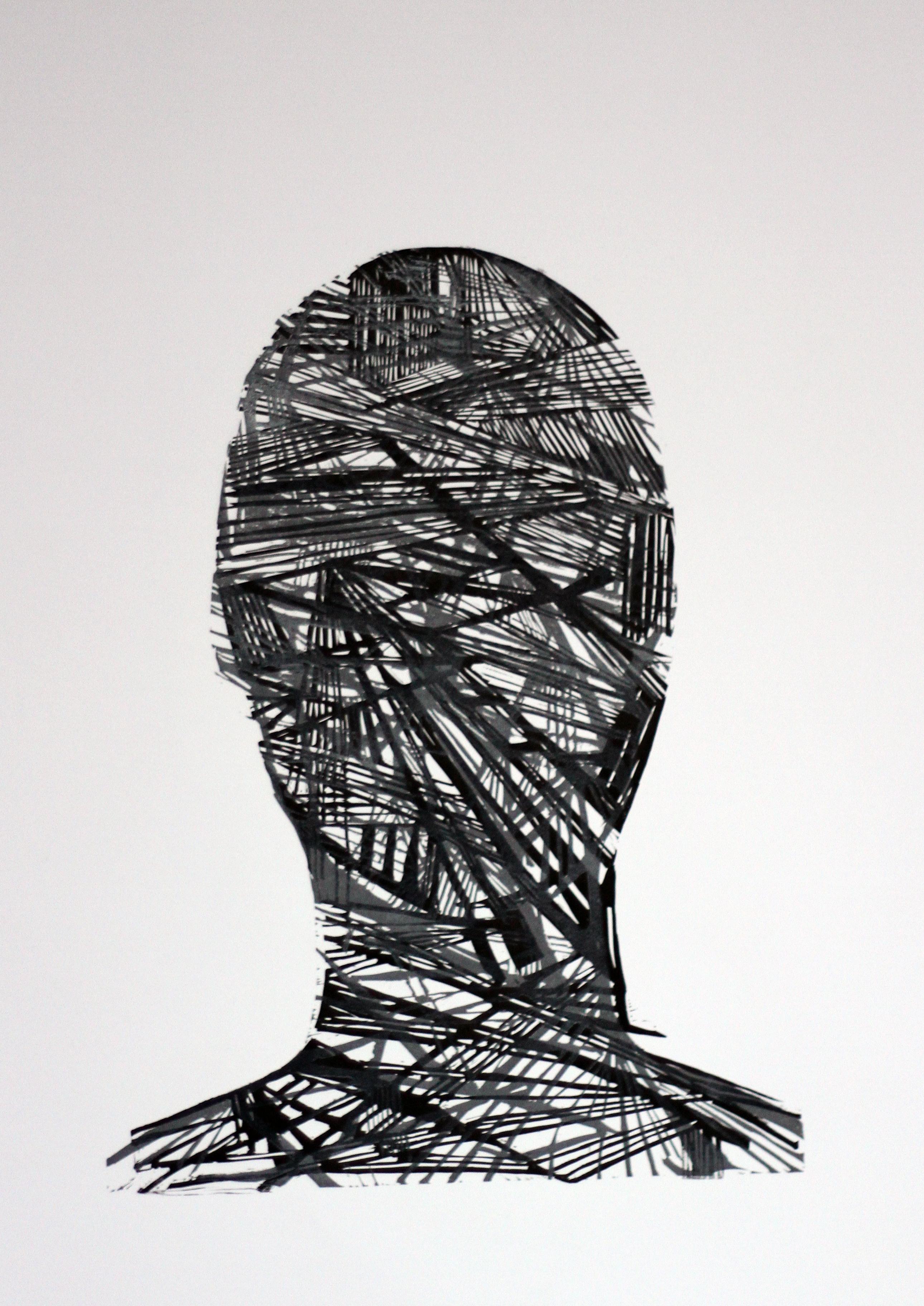 DobrawaBies,Nałożenia,70x50cm,2014,linoryt