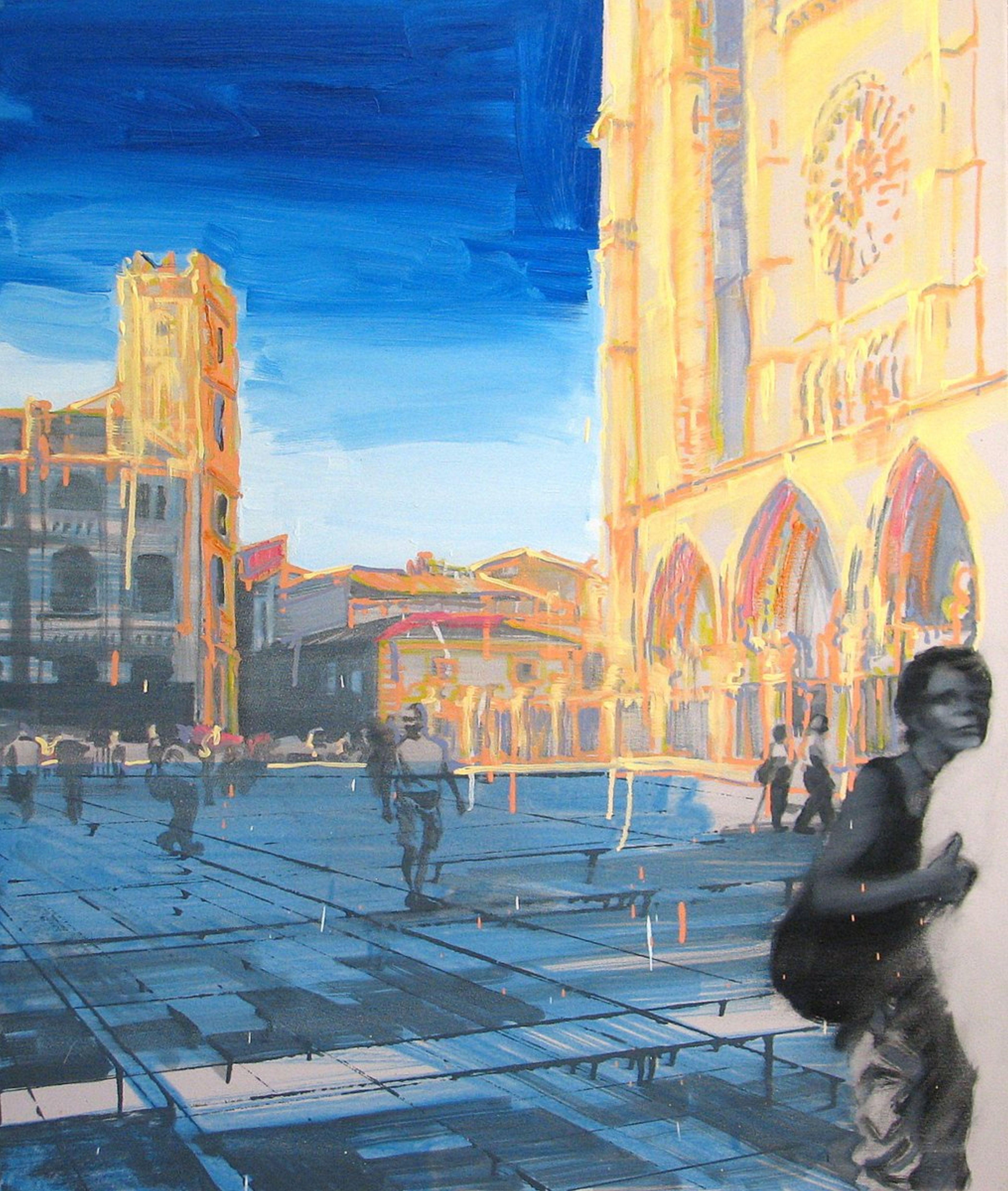 'Słoneczne wakacje', 2014, 100x85 cm, olej na płótnie (2)