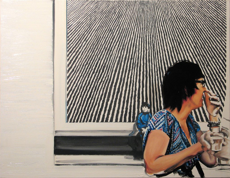 'Spotkanie', 2013, 70x90 cm, olej na płótnie