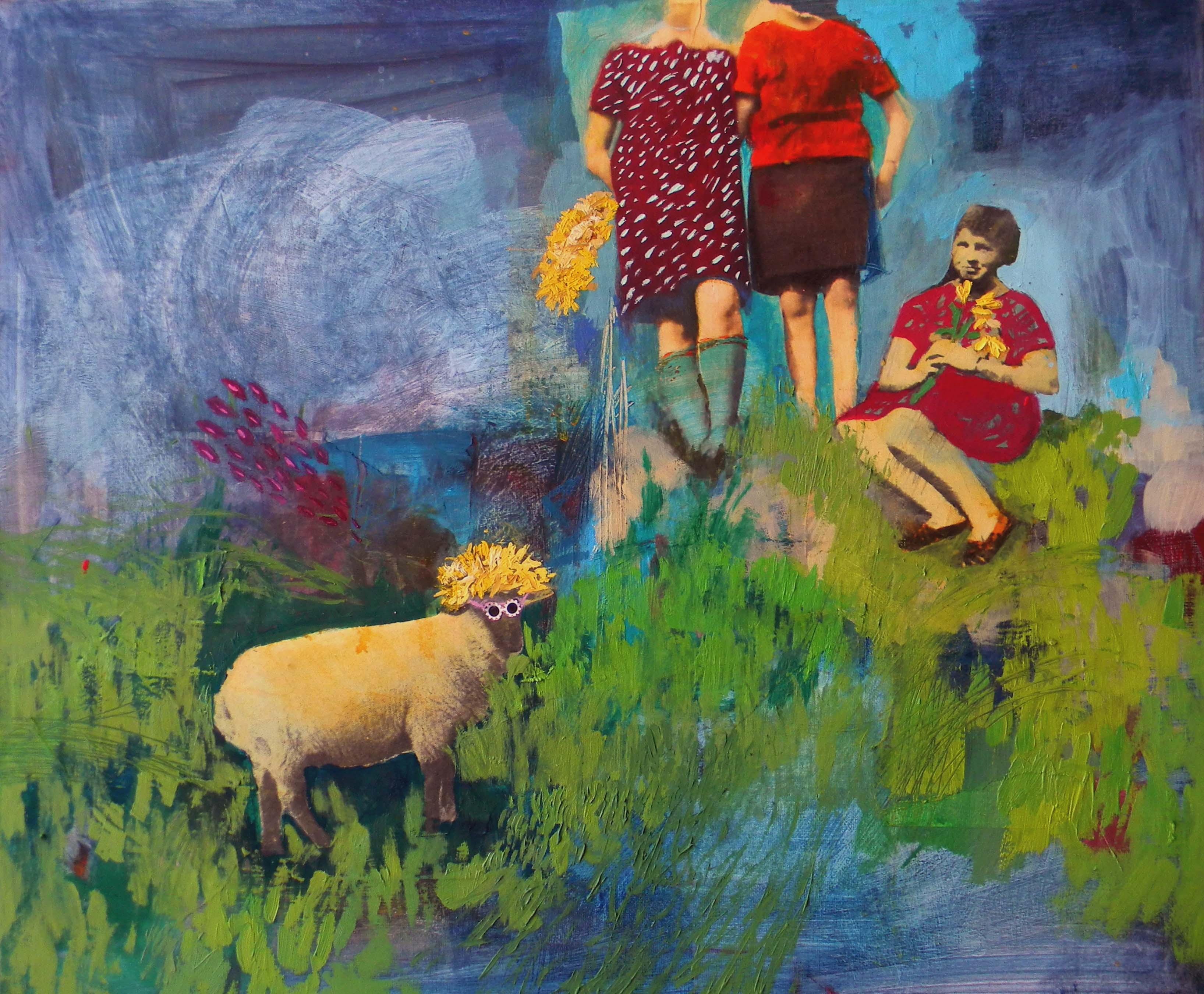 biau0142a owca w rodzinie 50x60