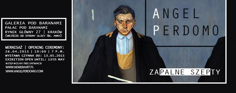 """Katalog wystawy """"Zapalne Szepty"""" Angela Perdomo w Galerii pod Baranami."""