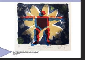 Człowiek jako ostateczna broń zagłady; litografia, 30x20 cm - 255 zł
