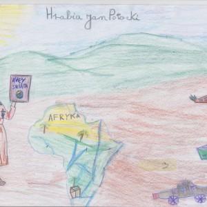 """wyróżnienie: Kenza Maaroufi, l.9, """"Podróże Jana Potockiego"""""""