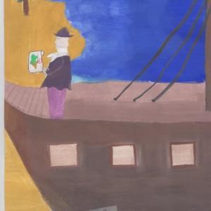 """wyróżnienie: Sabrina Haddad, l.12, """"Hrabia na Djerbie"""""""