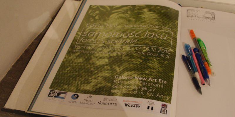 """wernisaż wystawy """"Samotność lasu"""" w Galerii New Era Art"""