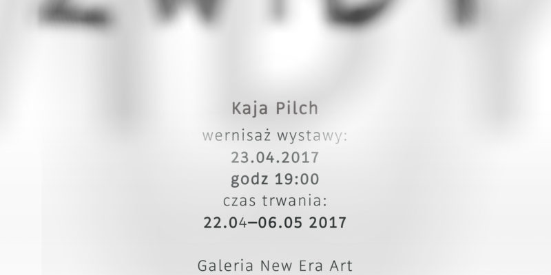 "Kaja Pilch ""Zwidy"" w ramach Cracow Gallery Weekend"