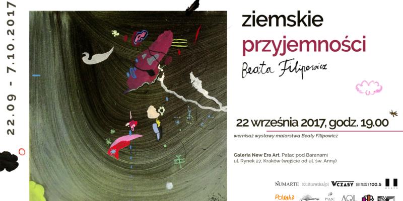 """Wernisaż wystawy """"Ziemskie przyjemności"""" Beaty Filipowicz"""