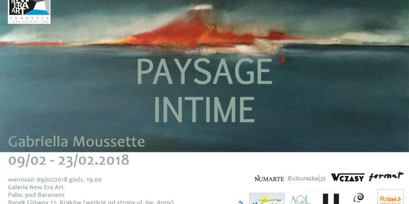Gabriella Mussette: Paysage Intime